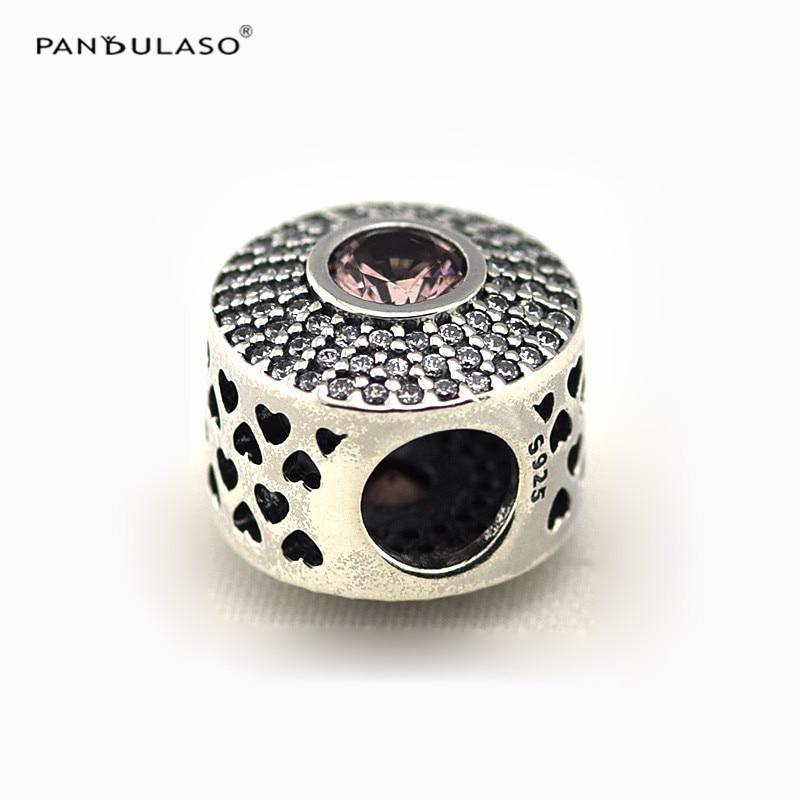 Pandulaso beads for Jewelry Making Radiant Splendor Blush Pink Bead Original 925 Sterling silver Jewelry fit
