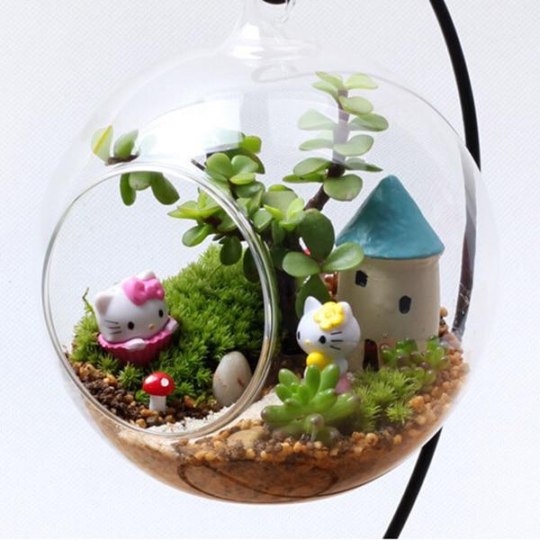 5pcs Set Resin Succulents Plants Doll House Miniatures Lovely Cute Fairy Garden Gnome Moss Terrarium