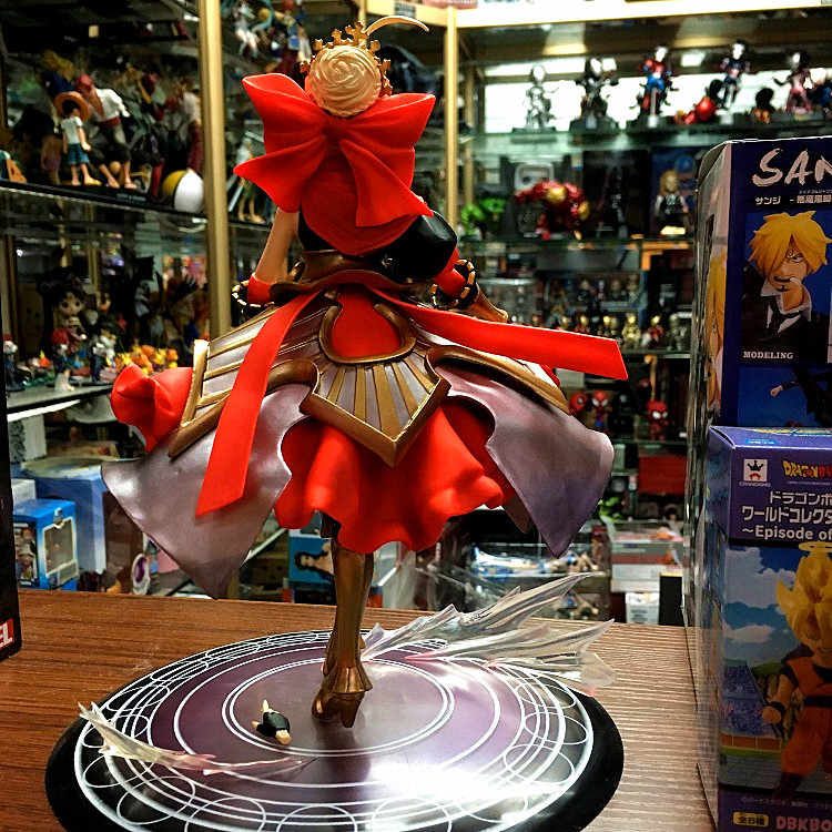 Anime jogo fate/stay night saber ação sexy menina figura nero sabre vermelho modelo boneca decoração pvc estatueta crianças brinquedos 23cm