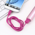 1 pc 1m 3ft Round V8 USB to Micro USB Charge Data Cable for Samsung for  HTC  for Motorola Promotion
