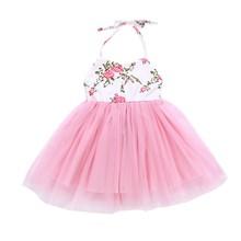 Childrens Clothing Summer Baby Girls Floral Dresses Princess Dress Children Sleeveless Mesh for