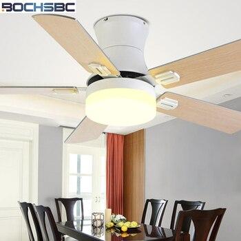 BOCHSBC Houten-art Plafond Ventilator Licht Amerikaanse Eenvoudige Modernfan Licht Voor Woonkamer Eetkamer Decoratie Met Afstandsbediening