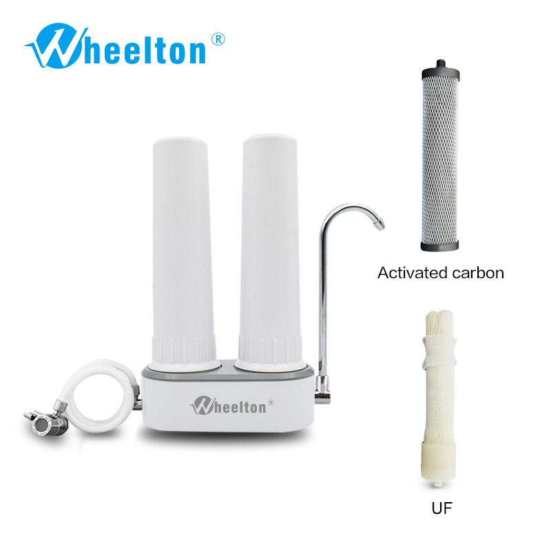 Wheelton brand Countertop water purifier faucet Carbon and ultrafiltration filter Offer drinkable water conditionally Free shipp