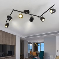 LED clothing store ceiling light led track spot simple creative living room bar long arm industrial wind ceiling lamp