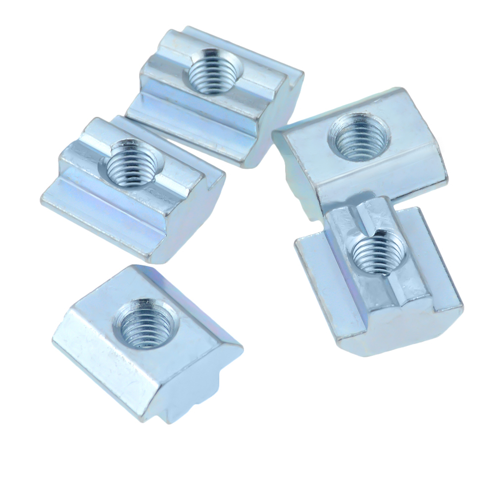 HOT Sale T Sliding Nut Block Square Nuts Zinc Coated Plate Aluminum For EU Standard 4040 / 4545 Aluminum Profile Slot For Kossel