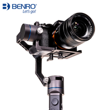Benro R1 Professional Handheld 3-axis stabilizer for camera and mobile phone Gimbal anti-shake Multifunction Stabilizer plastic three axis camera anti shake adjustable handheld grip pole mobile phone selfie stick stabilizer with phone clip