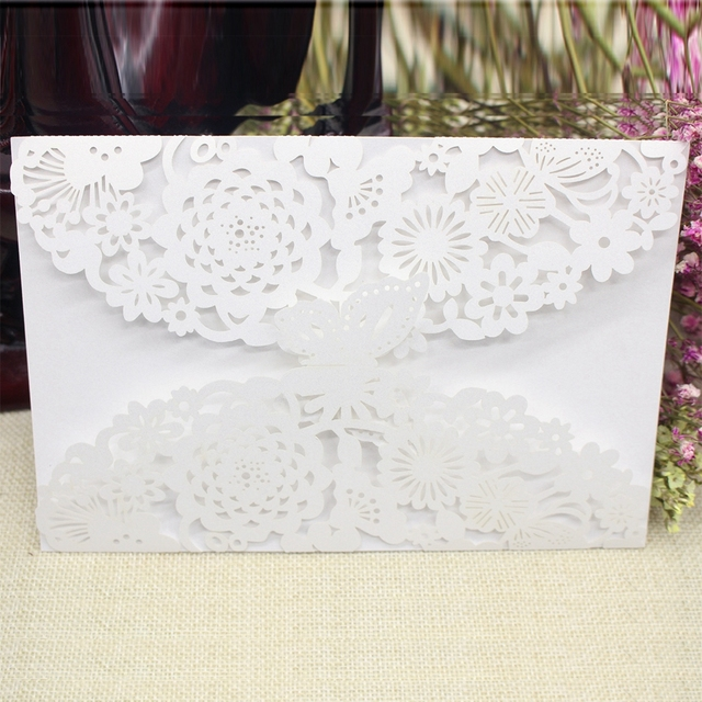 2018 new personalised white luxury floral lace laser cut wedding 2018 new personalised white luxury floral lace laser cut wedding invitation card envelope stopboris Image collections