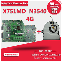 R752MD Motherboard X751MD rev2 0 Mainboard k751M K751MA X751MA R752M processor N3530 with 4G memory on