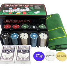 Poker-Chip-Set Casino Tablecloth-Code with And Entertainment Casual-Game Essentials Iron-Box