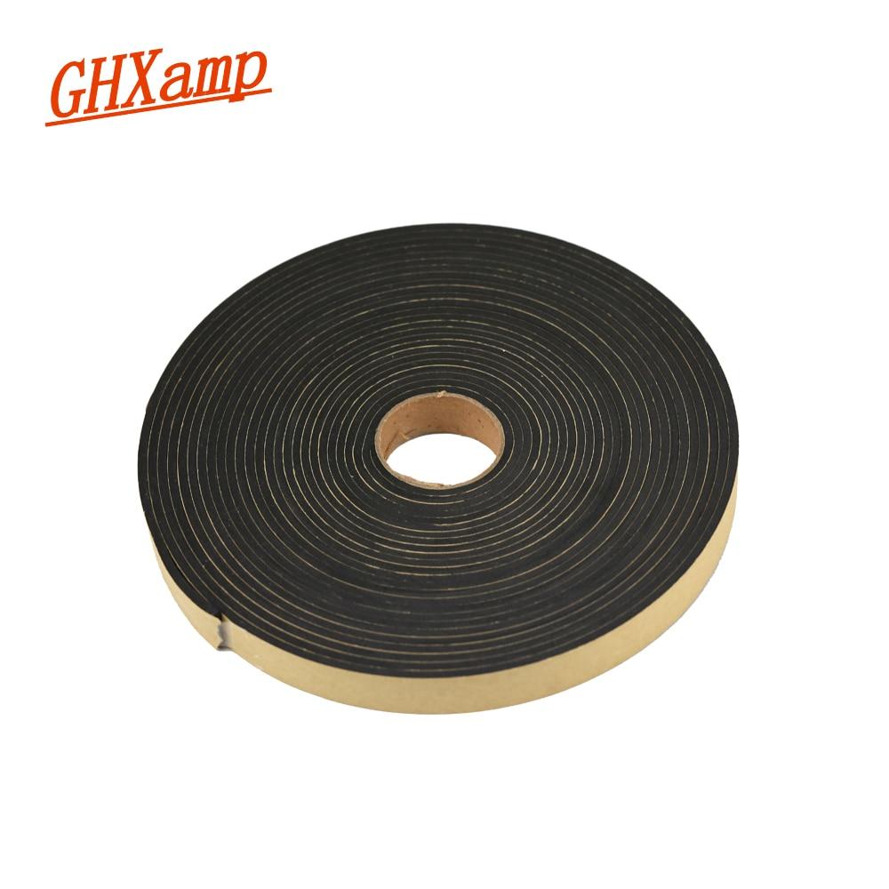 2 Meter Speaker Repair EVA Sealing Strip Black Single-sided Plastic Shockproof Absorber Gasket Seal 18*3MM