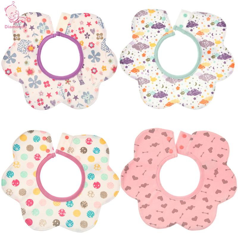 2018 Cartoon Baby Bibs Waterproof 4-Layer Cotton Baby Feeding Cloth Saliva Towel Scarf Lunch Boys Girls Cartoon Infant Bibs Burp ...