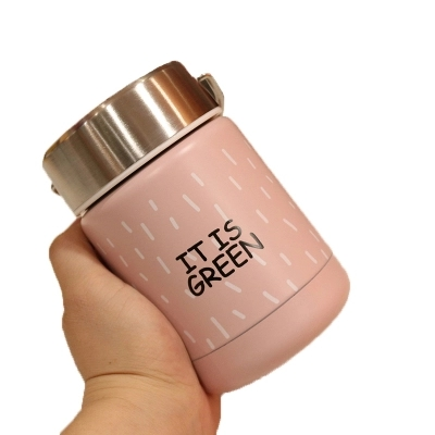 Lovely stew beaker portable children's thermal insulation lunch box stainless steel thermos bottle