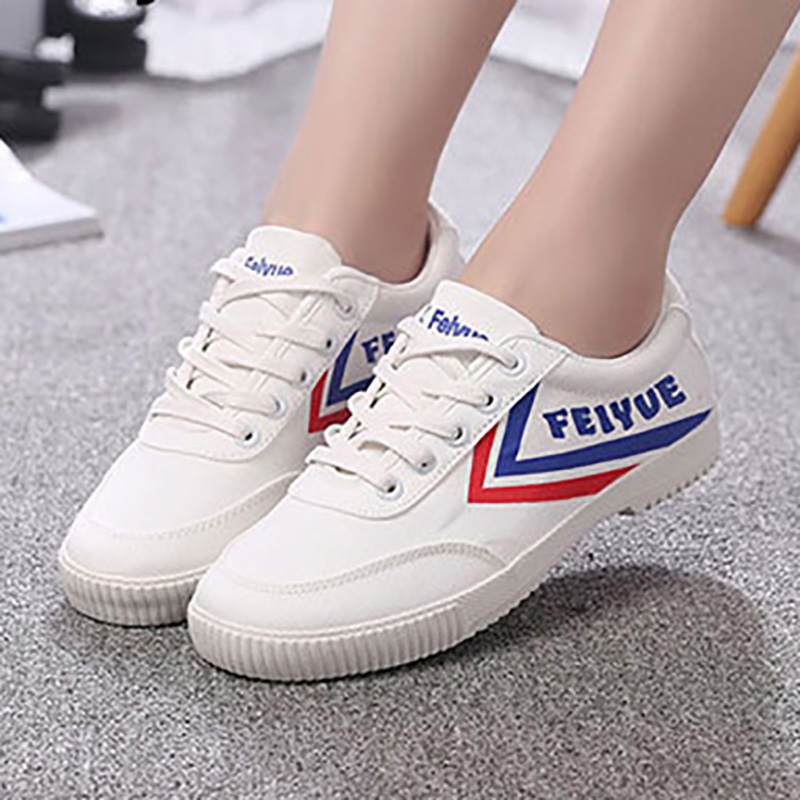 EU34 44 8108 Gold Silver Canvas FeiYue Sneakers Martial Arts TaiChi KungFu Training Running Track And