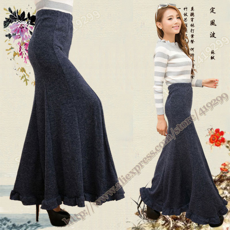 Knit Maxi Skirts Promotion-Shop for Promotional Knit Maxi Skirts ...