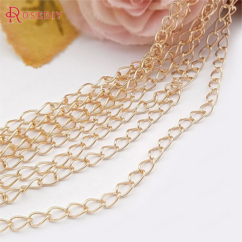 Each 36 inch  v Jewelry Making   CC015 1  St Designer 24k Gold Plated Copper Necklace 3 Feet Each 24KT Gold Plated Copper Link Round Chain