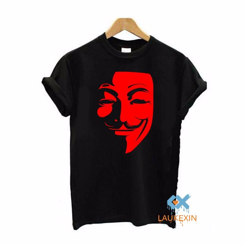 f3a51797 Anonymous T Shirt V For Vendetta Mask Mens T Shirt O Neck Short ...