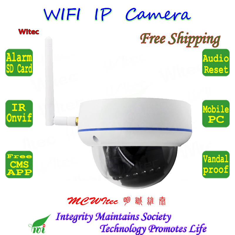 WI-FI 1080 P 960 P 720 P ИК купольная Антивандальная CCTV Cam RTSP Onvif SD Card IP Камера движения сигнал тревоги P2P Mobile view аудио сброса IPC