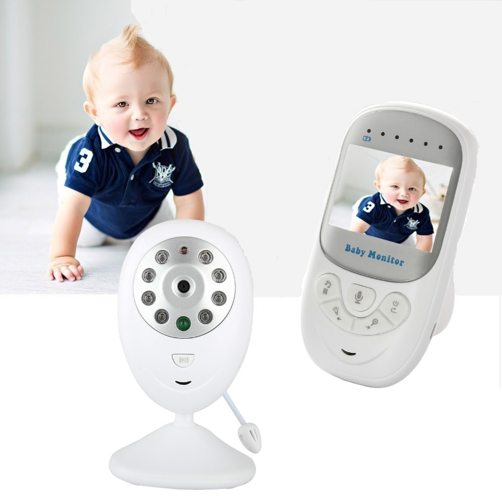 Wireless Baby Monitor 2 inch Electronic Baby sitter Radio Video Nanny Camera Night Vision Temperature Monitoring BM-108 For Kids