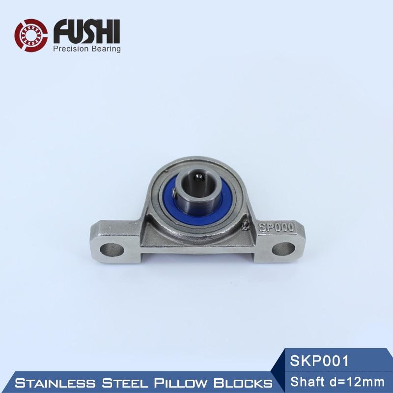 SKP001 Bearing Shaft 12mm ( 1 Pc ) SSKP001 Stainless Steel Pillow Block S KP001 12 mm BearingsSKP001 Bearing Shaft 12mm ( 1 Pc ) SSKP001 Stainless Steel Pillow Block S KP001 12 mm Bearings