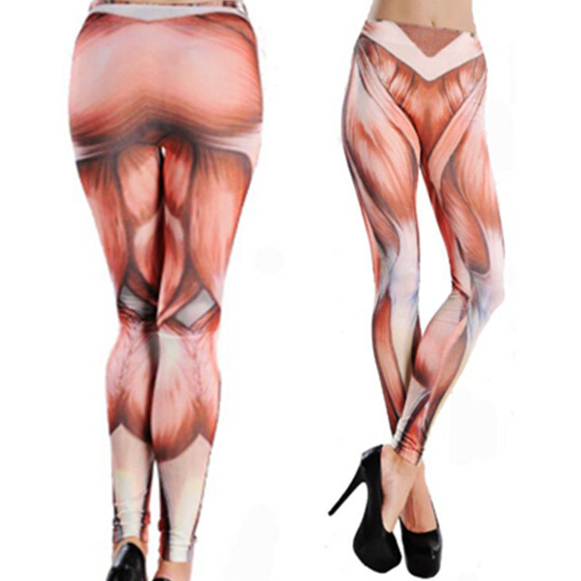 4ffd57e4ed1 Free Shipping Sexy fashion clubwear colorful muscle tattoo jeans look  leggings for women 2016 new comfortable stretchy pants