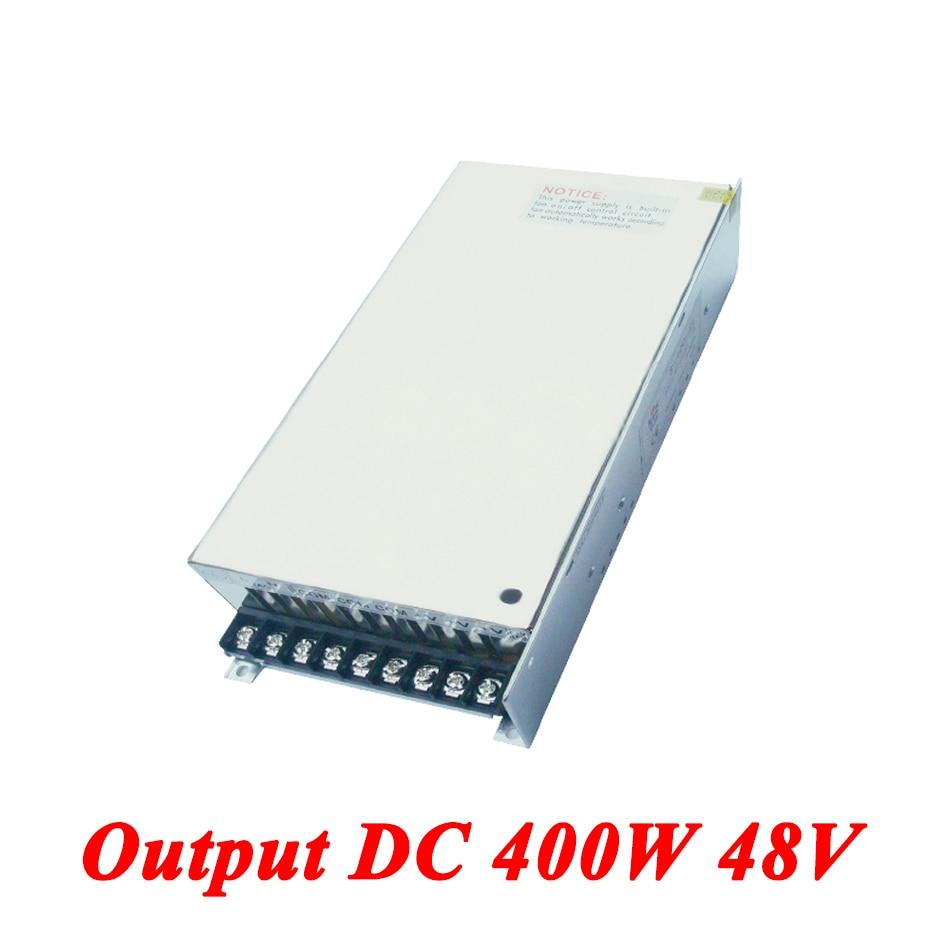S-400-48 Switching Power Supply 400W 48v 8.3A,Single Output AC-DC Converter For Led Strip,AC110V/220V Transformer To DC Driver