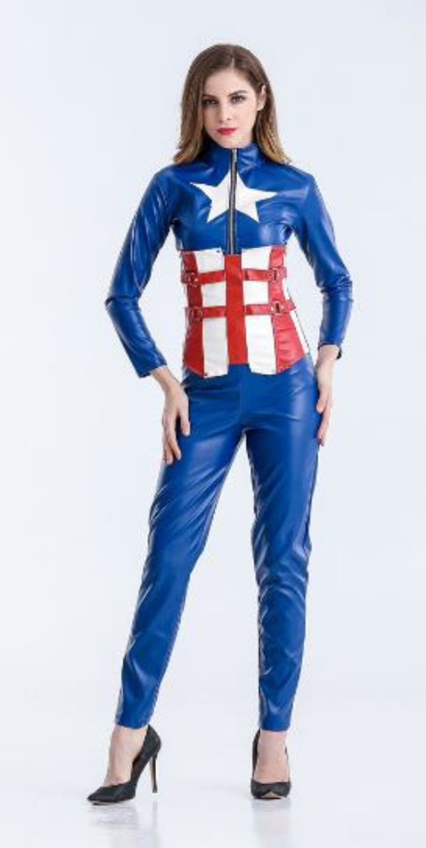 Dress Cosplay Costume Captain America Cosplay Carnaval Halloween Costumes Jumpsuit Cosplay