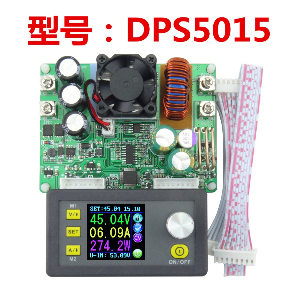 DPS5015 Constant Voltage Current Step-down Programmable Digital Power Supply buck Voltage Converter Voltmeter Multimeter 50V 15A solar energy wind power regulator charging automatic buck voltage constant voltage constant current adjustable power supply