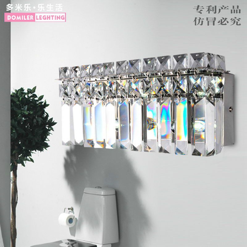 Modern LED Wall Lamps Creative Design Wall Sconces Lights Bedside Crystal Light Fixtures a suit of chic blossom necklace and earrings jewelry for women