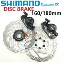 SHIMANO Tourney XT BR M375 TX805 Bicycle Line Pulling Disc Brake 160mm 180mm Brake Caliper & Brake Rotor RT56 RT30 RT54 G3 HS1