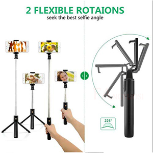 Image 3 - FANGTUOSI 3 in 1 Wireless bluetooth Selfie Stick Mini Tripod Extendable Monopod Universal Pau De Palo For iPhone XR X 7 6s Plus