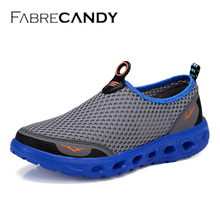 FABRECANDY Men Shoes 2017 Fashion Brand Mesh Shoes High Quality Breathable Slip on Summer Casual Shoes unisex plus size 35-45