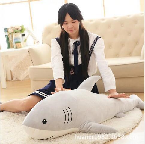 115 cm simulation jouets en peluche requin oreiller bourré de haute qualité poupée cadeau d'anniversaire