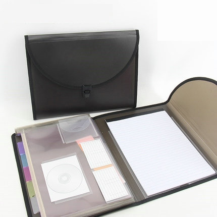 Multifunction Business Office Organizer Expanding File Folder A4 Briefcase Folder Bag For Documents a4 manager folder multifunction leather office folder includes 12 bit calculator clipboard business organizer folder