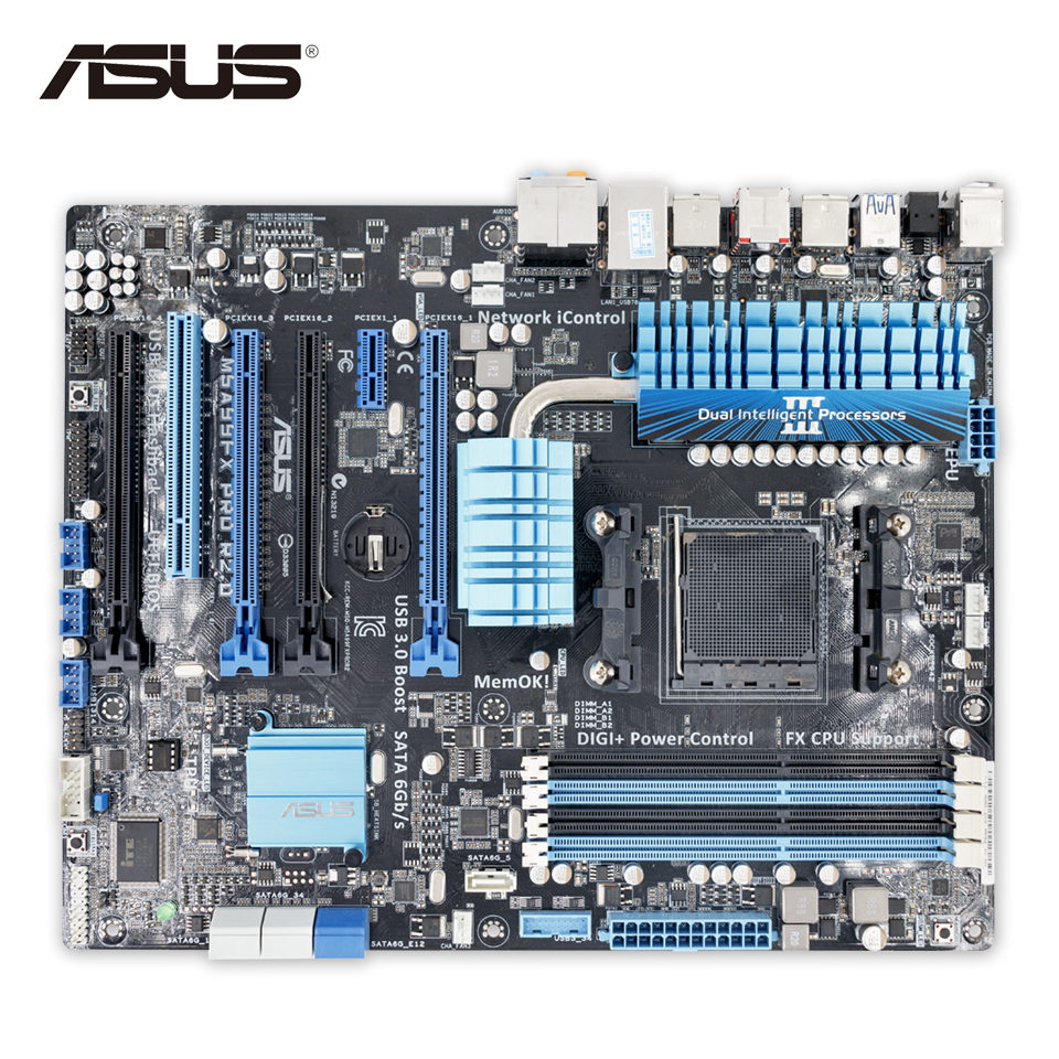 Asus M5A99FX PRO R2.0 Desktop Motherboard 990FX Socket AM3+ DDR3 32G SATA3 USB3.0 ATX 925 silver plated flower necklace