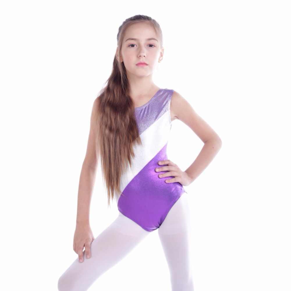 ceff333ca Newest Gymnastic Leotards Kids Ribbon Sleeveless Dance Leotards for Kid  Girls Training Biketard Dancewear Practice Costume