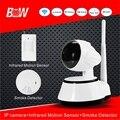 Минималистский Full HD Камера Wi-Fi Монитор Ip-камера + Инфракрасный Motion Датчик Дыма 1080*720 P IP Security камеры Беспроводные