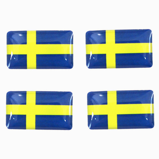 50 5000pcs epoxy sweden flag car steering wheel styling stickers decorations 3d sweden flag small
