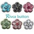 7 cores d02190 strass mais novo botão rivca botão de pressão para 18mm botão snap jóias