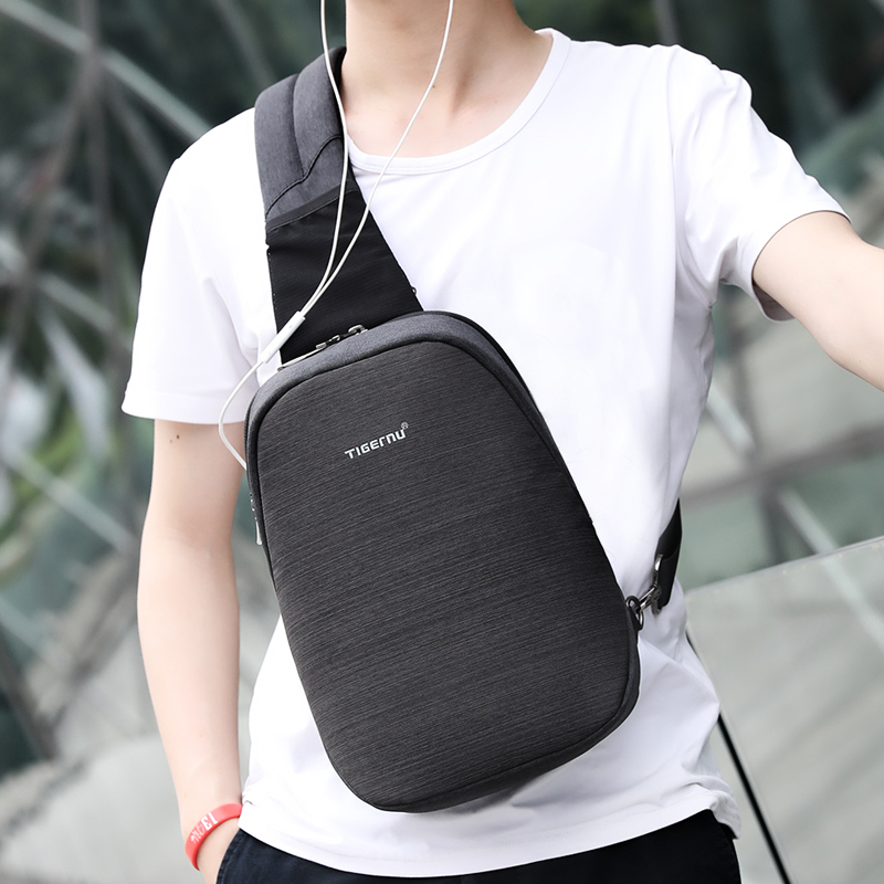 35e51a1d3b4b Tigernu Anti theft Crossbody Bag Casual Men Chest Bag Waterproof Sling Shoulder  Bag Messenger Bag Fit 9.7