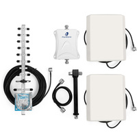 70dB LTE amplifier cell phone signal booster AWS 1700Mhz GSM repeater 3g yagi anntenna