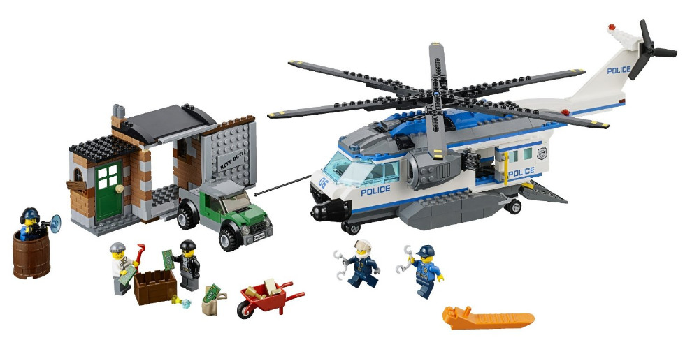 купить BELA City Police Helicopter Surveillanc Building Blocks Classic For Girl Boy Kids Model Toys  Marvel Compatible Legoe недорого