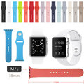 ZJM 38MM M / L Size Strap Silicone Bands Sport Watch Band For Apple Watch