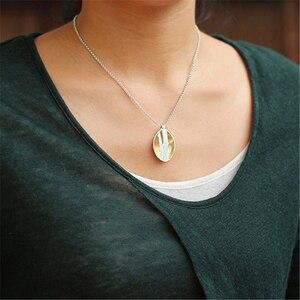 Image 4 - Lotus Fun pendentif en argent Sterling 925, bijou fin fait à la main, Design doiseaux sur Branches, pendentif sans collier pour femmes