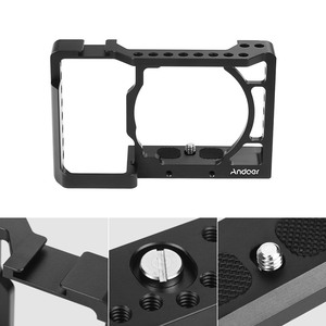 Image 5 - Andoer Camera Cage Video Film Movie Making Stabilizer Aluminum Alloy 1/4 Inch Screw with Cold Shoe Mount for Sony A6500 Camera