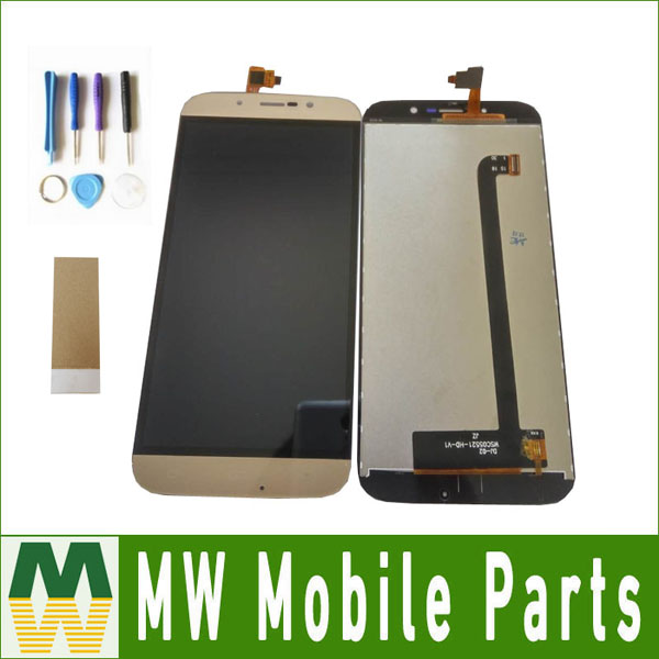 1PC/Lot High Quality For DEXP Ixion ES255 Fire WSC05521 Touch Screen + Lcd Screen Assembly With Tools+tape Black Gold Color