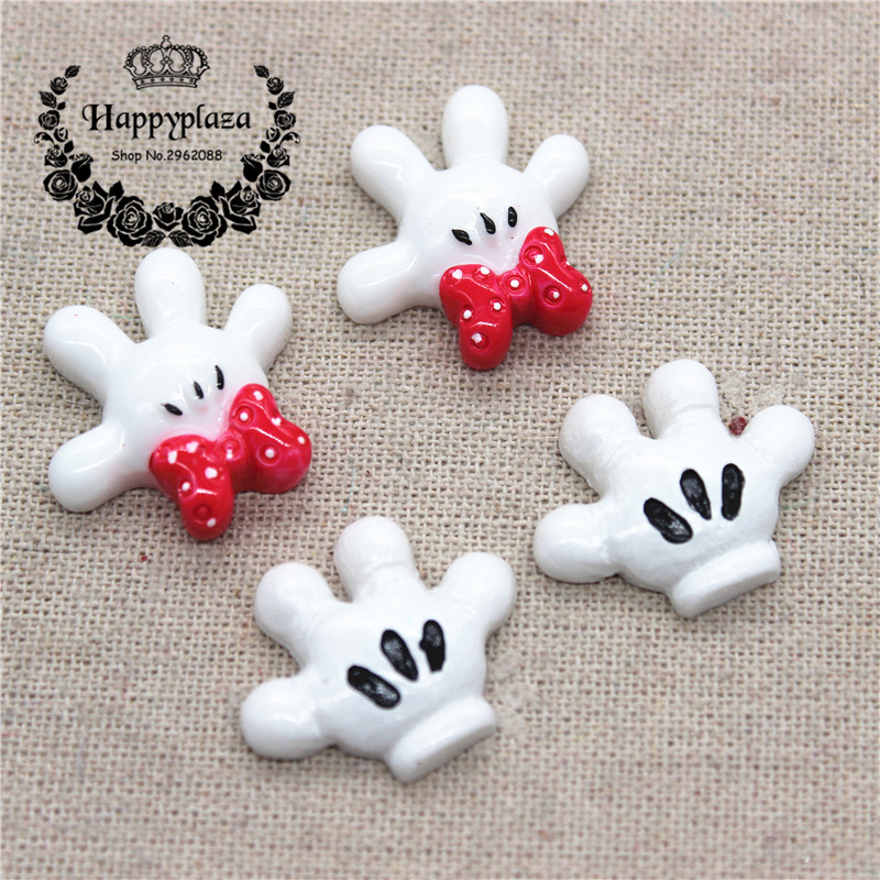 10pcs Kawaii Resin Mickey/Minnie Palm Flat Back Cabochon DIY Phone/Craft Scrapbooking