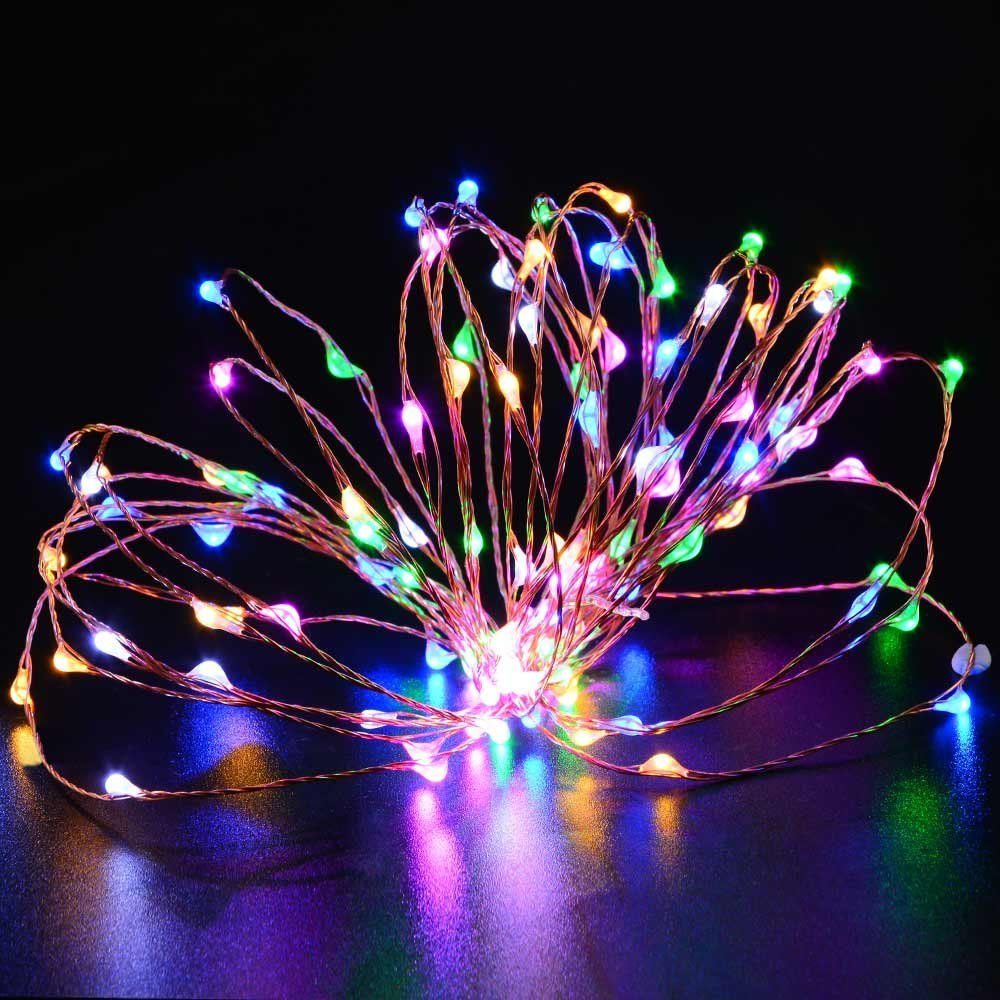 2pcs string lights micro 100 leds super bright led rope lights 2pcs string lights micro 100 leds super bright led rope lights battery operated long thin string copper for christmas home in lighting strings from lights aloadofball Image collections