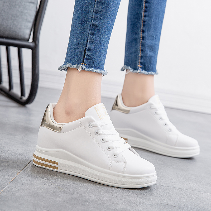 Spring new fashion women sneakers casual shoes flat comfortable offwhite walking shoes for women skateboarding shoes JINBEILE in Walking Shoes from Sports Entertainment
