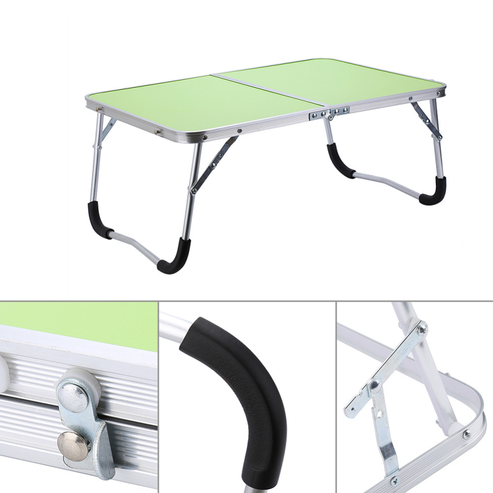 Image 4 - Portable Multifunctional Computer Desk Camping Outdoor Furniture Foldable Picnic Table Dormitory Bed Notebook Desk-in Laptop Desks from Furniture