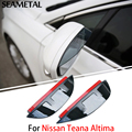 1 Pair For Nissan Teana Altima 2014 2015 Car Rearview Mirror Eyebrow Covers Flexible Protection Rainproof Decoration Accessories